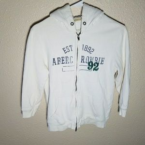Abercrombie Fitch Hoodie M Full Zipper Embroidered
